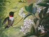 Hummingbird and Confederate Jasmine, by Francine Champagne - Hammond, LA