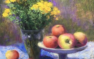 Julia Lesnichy - Still life with apples