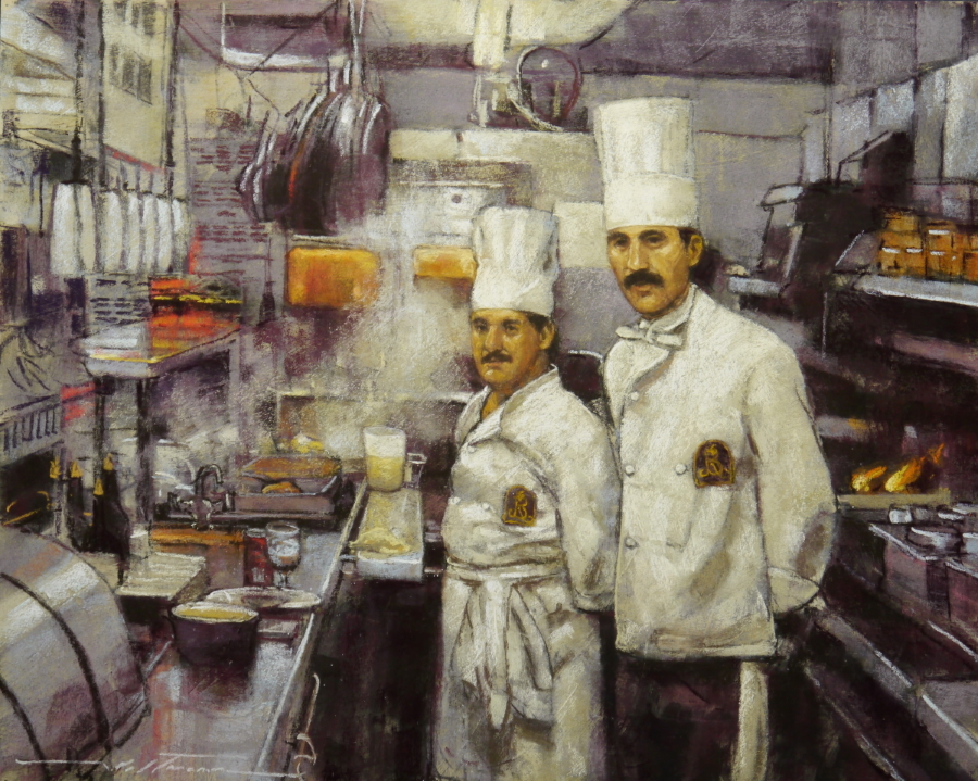 Title: The Two Chefs Artist: Alan Flattman