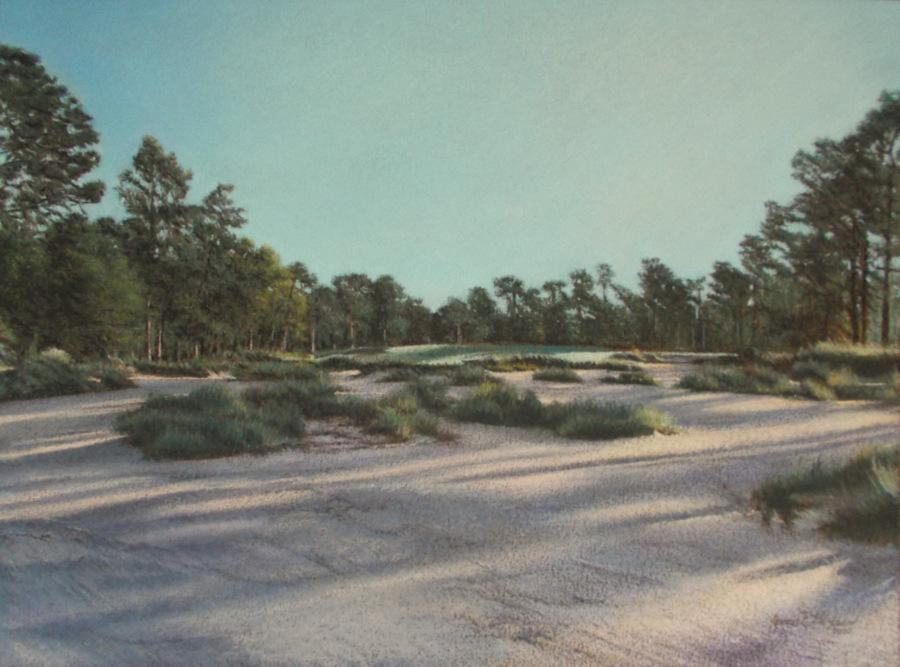 Title: Hole 9 Pinehurst No. 4 Artist: Jane Hixson